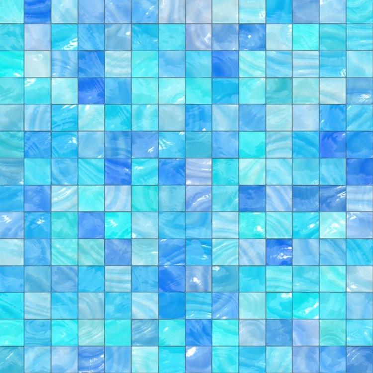 Mosaico azzurro carta da parati adesiva for Carta adesiva da parati