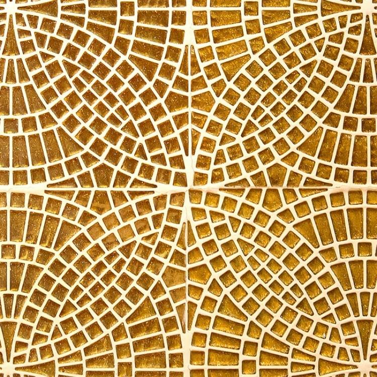 Mosaico fiore d 39 oro carta da parati adesiva for Carta da parati oro