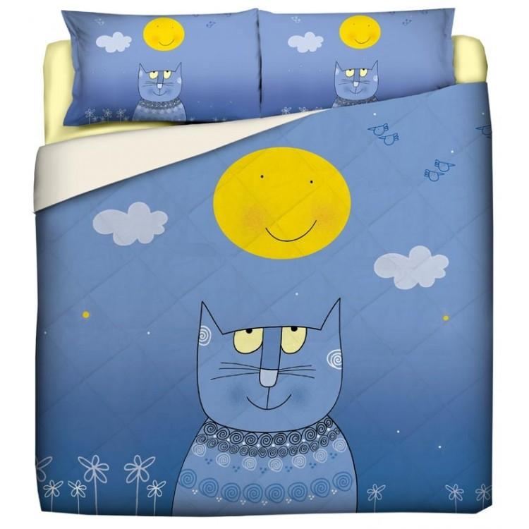trapunta gatto luna nicoletta costa
