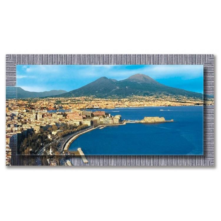 Quadro in tela con cornice Napoli di Giorno