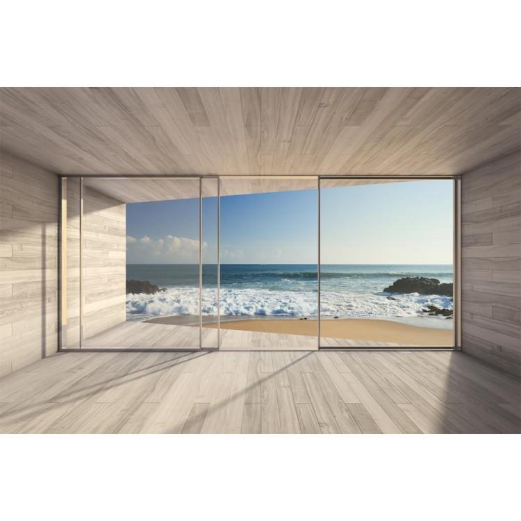 Fotomurale casa sulla spiaggia