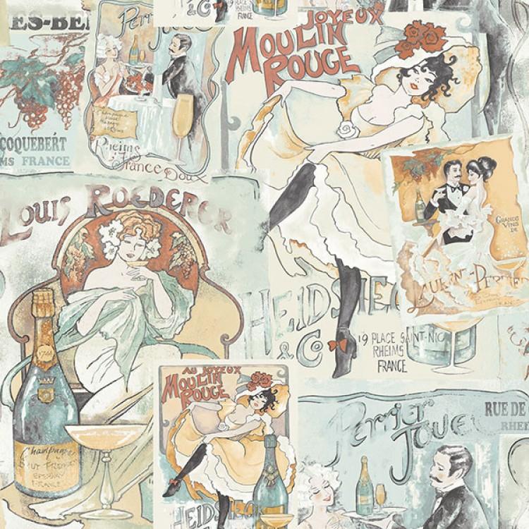 Moulin Rouge - Carta da parati cucina
