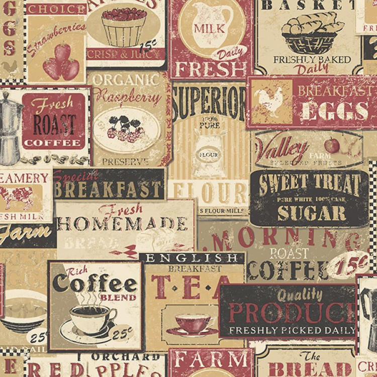 Old Restaurant Vintage - Carta da parati cucina