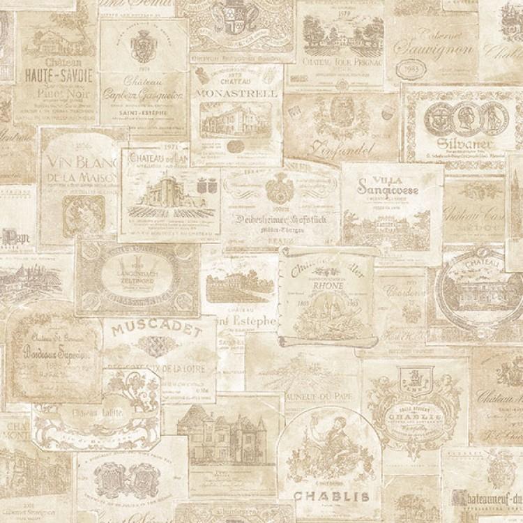 Old Wine crema - Carta da parati cucina