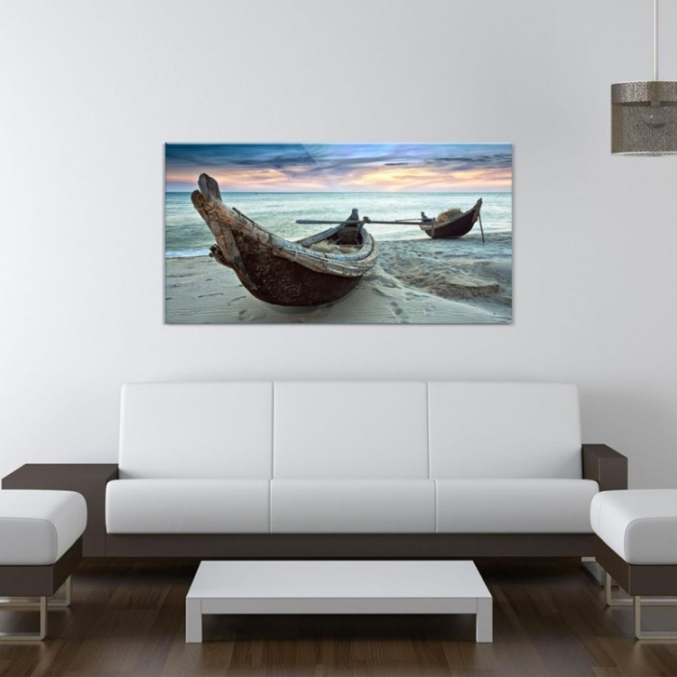 Quadro su vetro Canoe