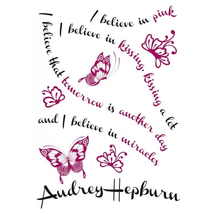 Frase adesiva Audrey Hepburn - Foglio 1