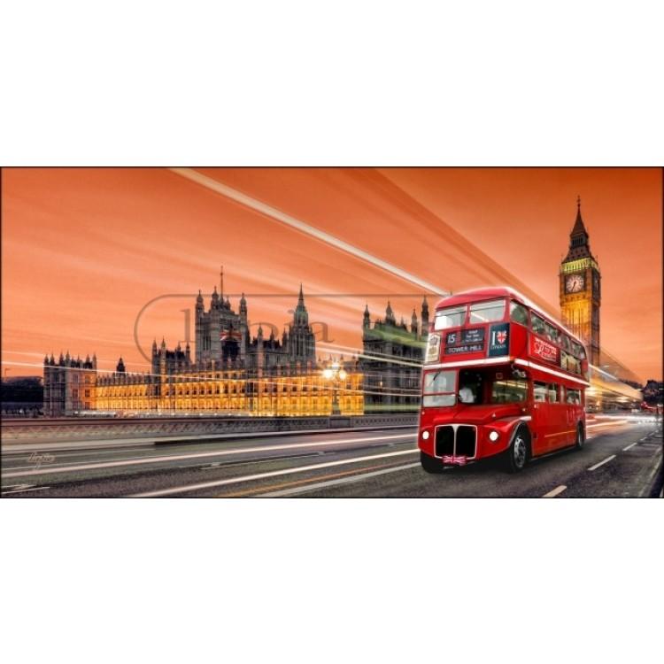 Bus Brown | Quadro di Londra alta qualità