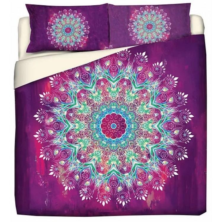 copripiumino Spirit Purple Mandala