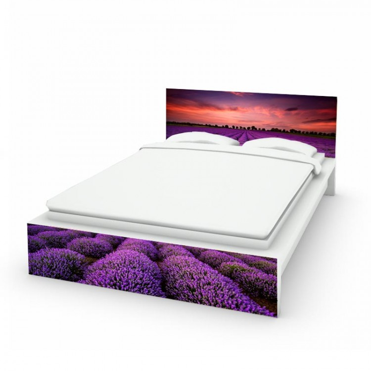 adesivo letto lavanda amb