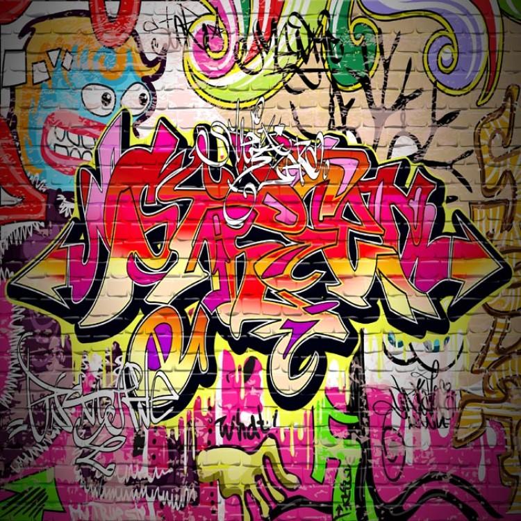 adesivo cassettiera graffito