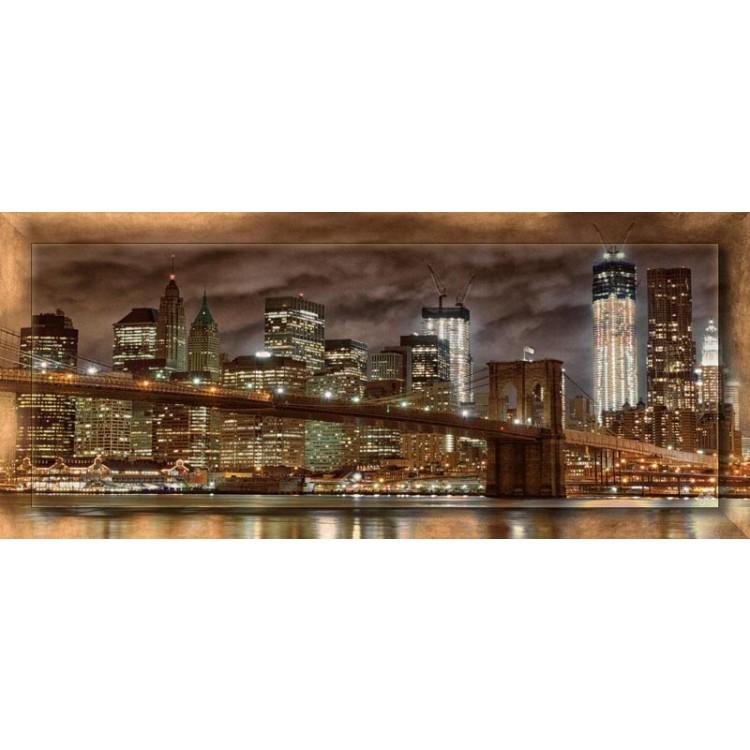 Bridge at Night con cornice | Quadro moderno su tela