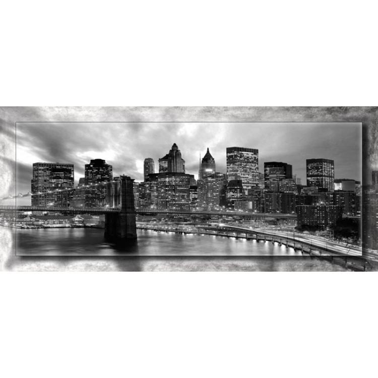 Manhattan con cornice   Quadro moderno su tela