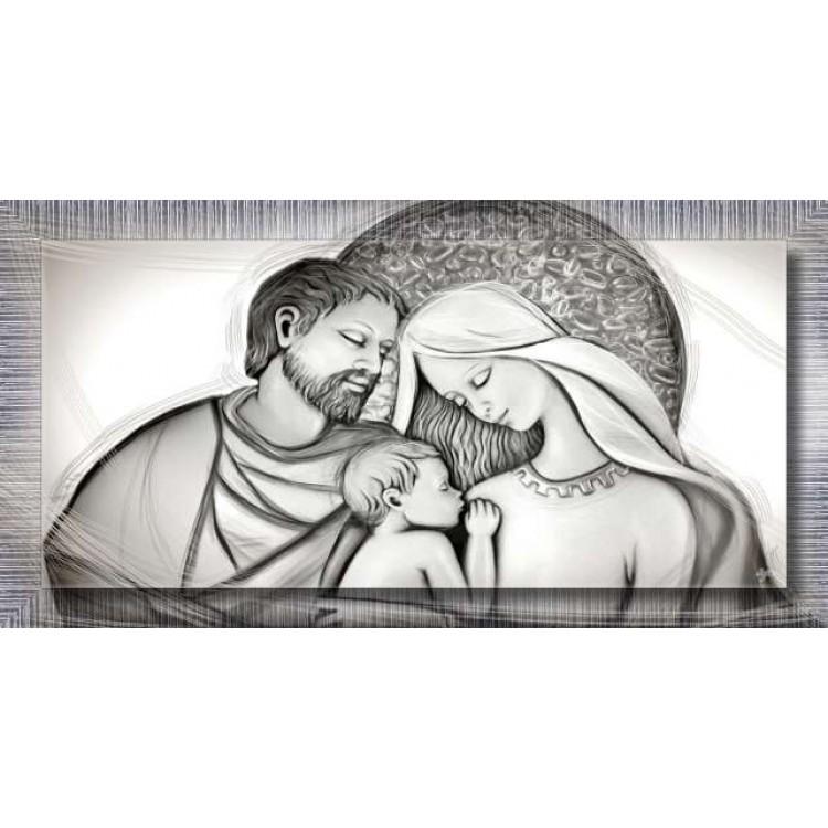 Holy Family Grey | con cornice
