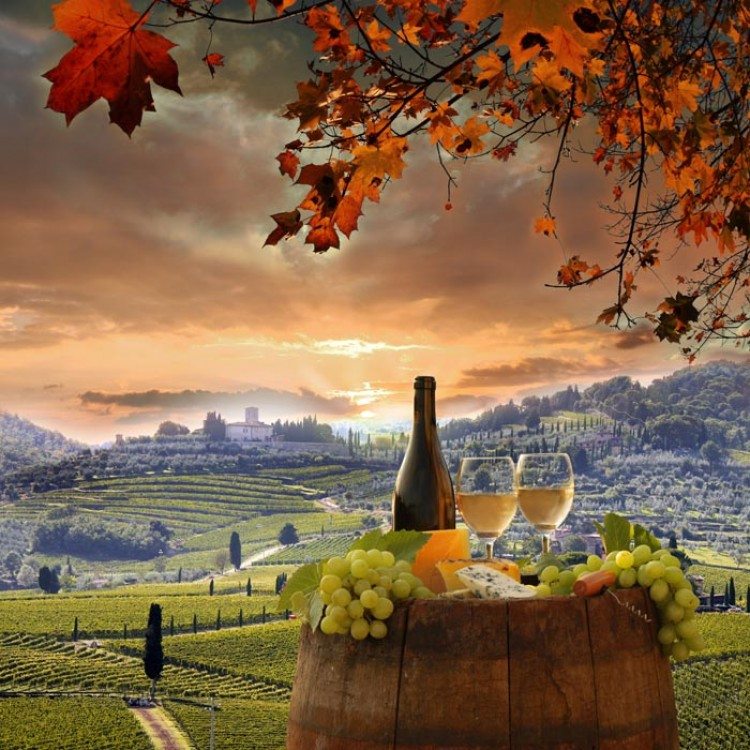 Quadro per cucina | Aperitivo in Toscana