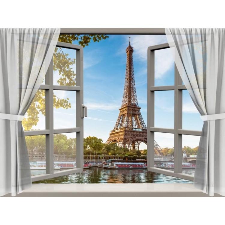 quadro effetto finestra su parigi
