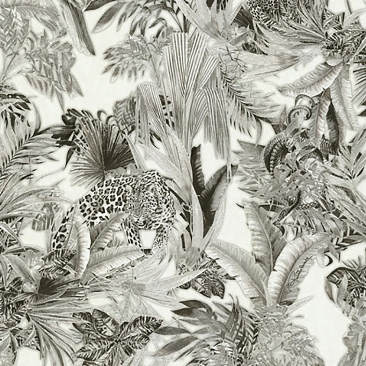 Carta da parati Roberto Cavalli Tropical Leopardo Luxury