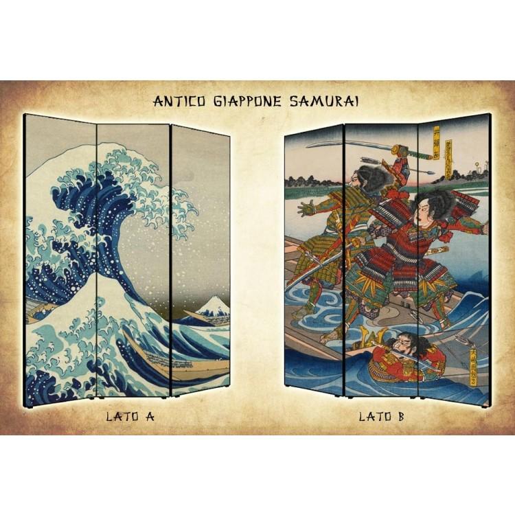 paravento giapponese samurai separ divisorio