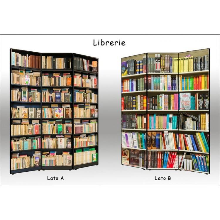 paravento separè bifacciale librerie