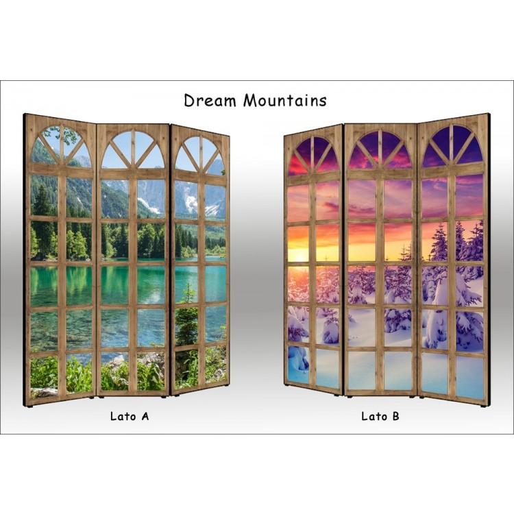 paravento separè bifacciale dream mountains