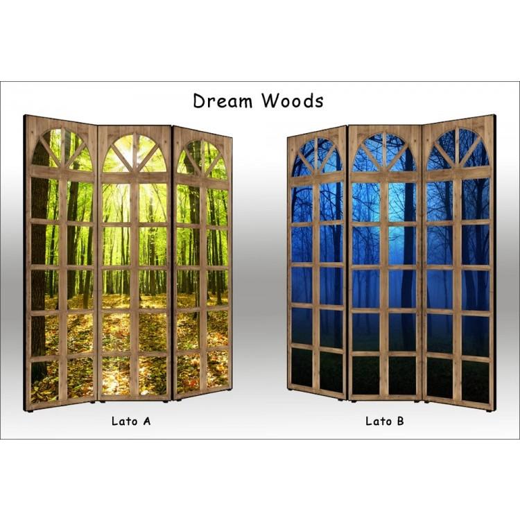 paravento separè bifacciale dream woods
