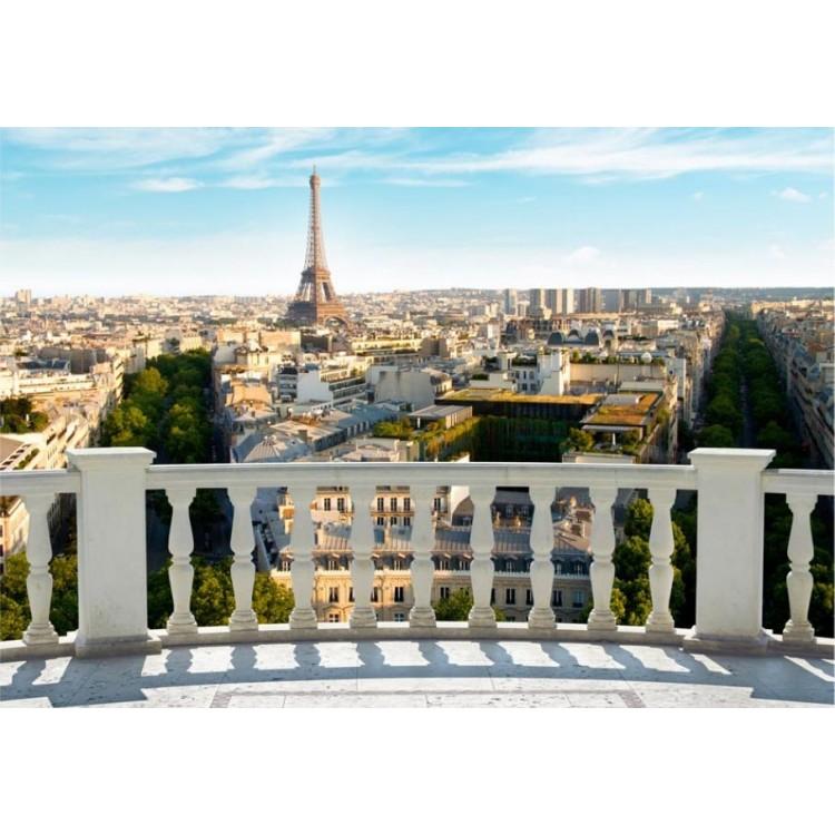 fotomurale terrazza su parigi