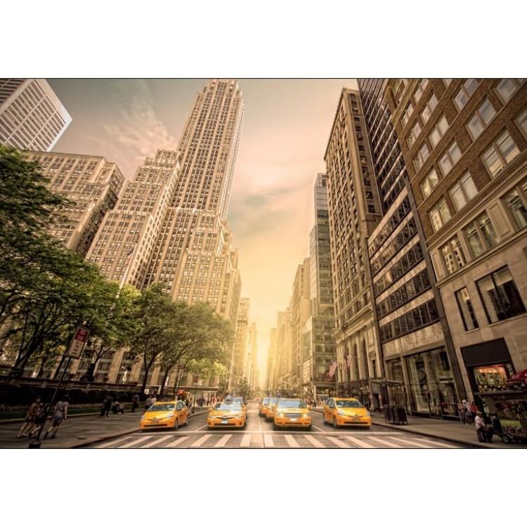 fotomurale taxi gialli