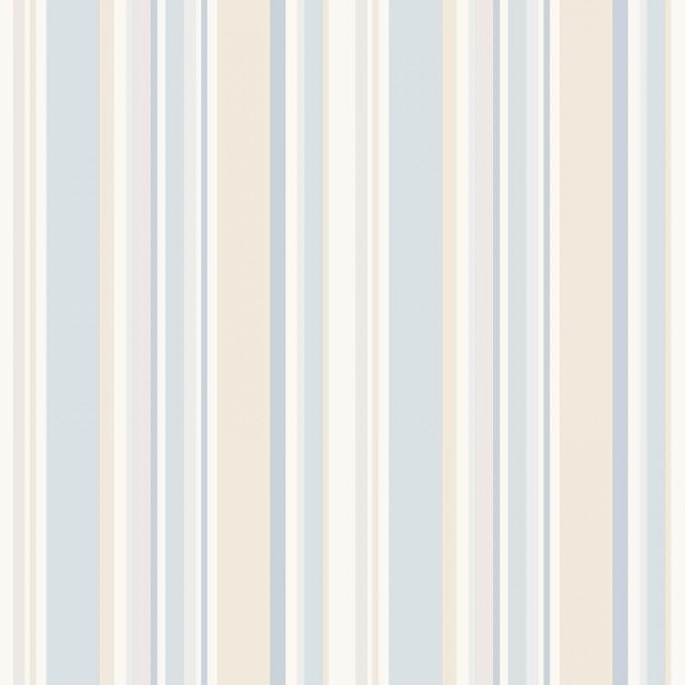 Carta da parati a righe azzurro chiaro e beige