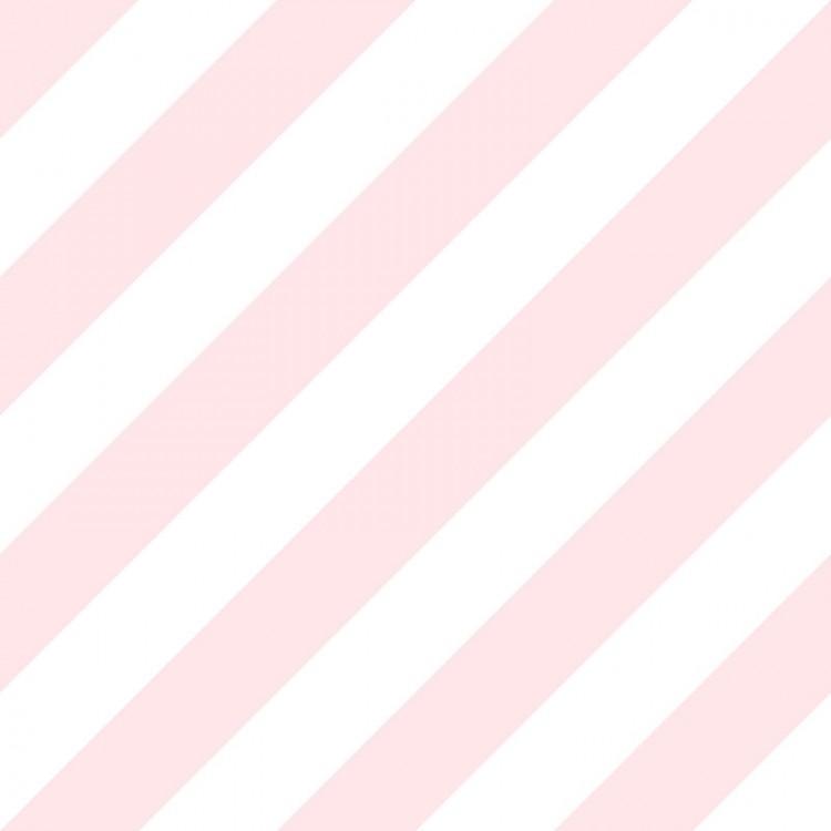 Carta da parati a righe rosa e bianche oblique
