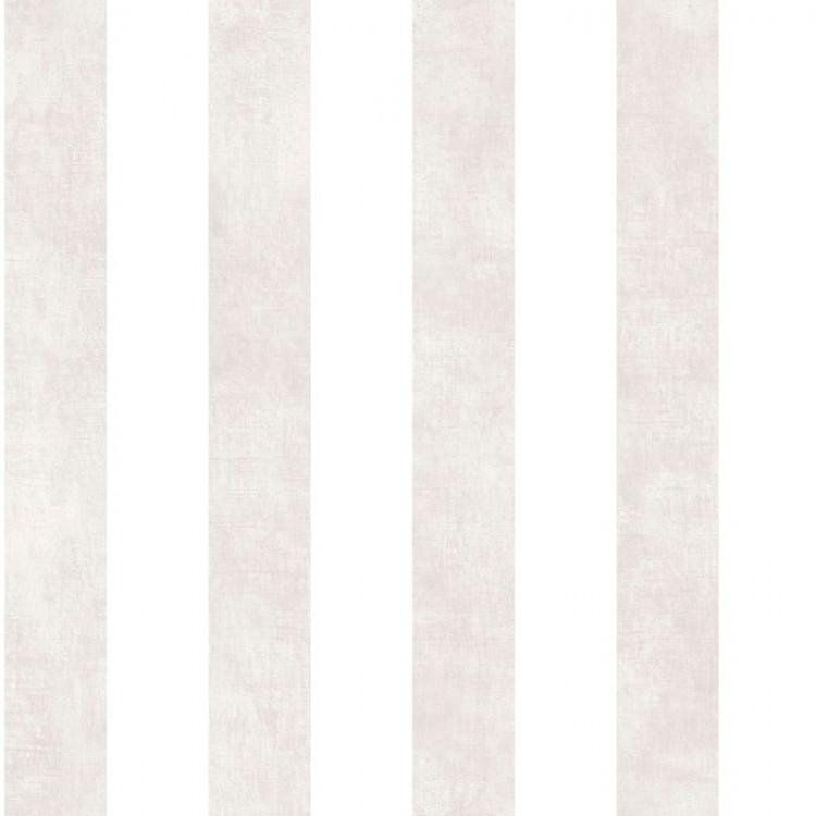 Carta da parati a righe beige talpa e bianche lino