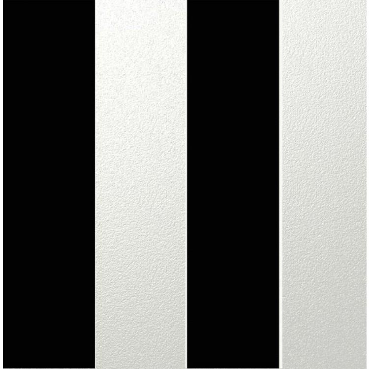 Carta da parati a righe extra larghe nere e bianche satin