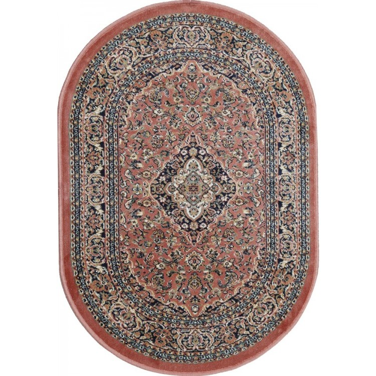 tappeto oriental rosa antico ovale
