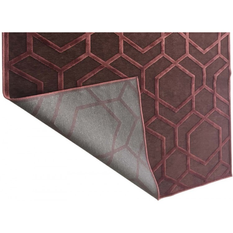 Tappeto Geometrico Cangiante Viola