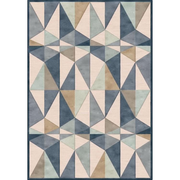Tappeto Geometrico Blue Beige