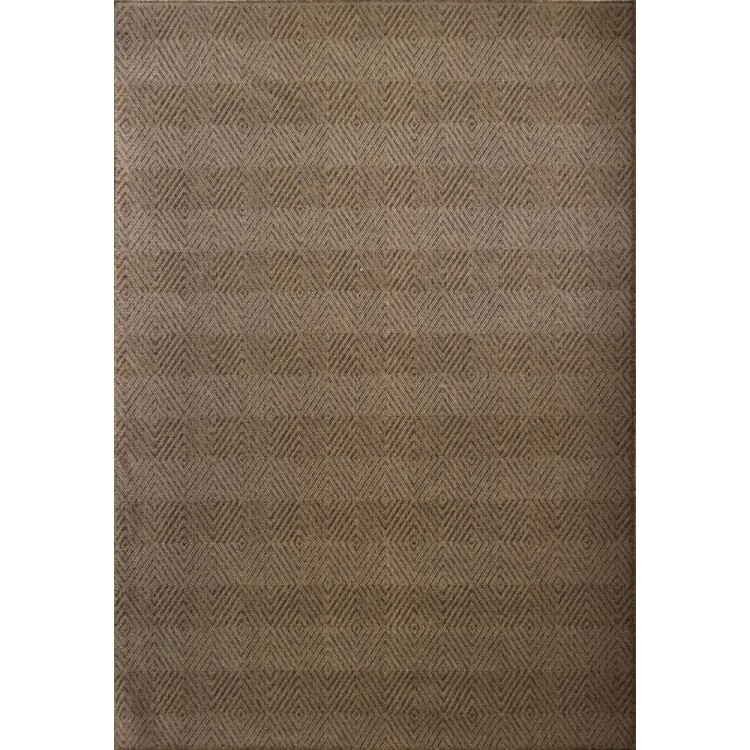 tappeto da esterno rombi marrone