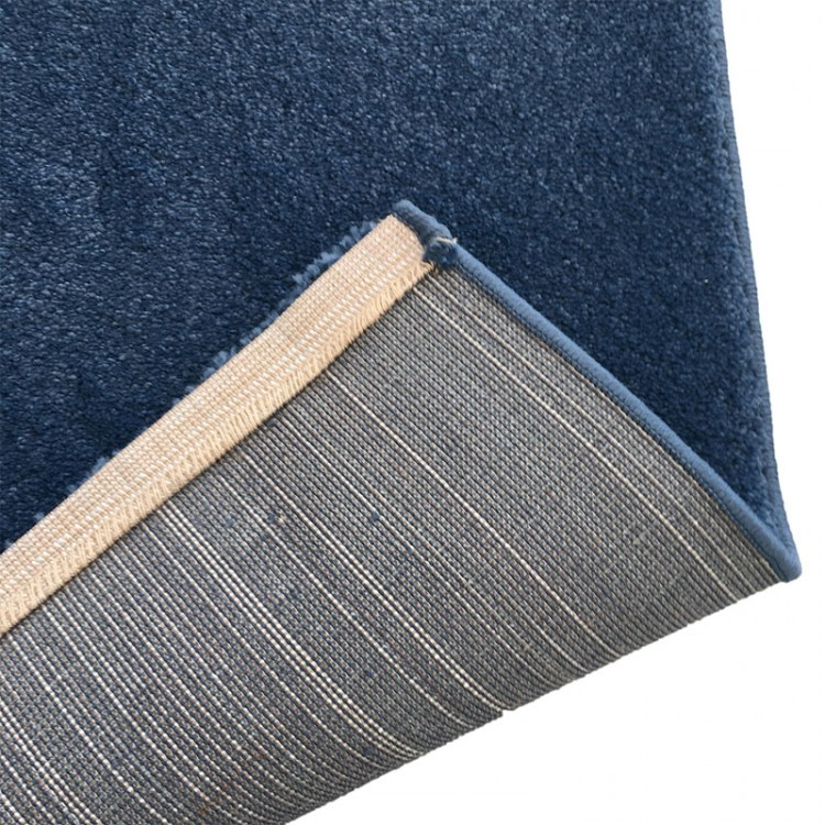 tappeto shaggy blu