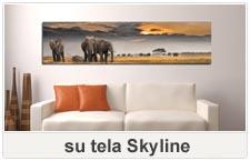 quadri su tela skyline